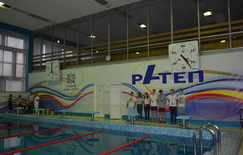 В новом бассейне Дворца спорта «Олимп» состоялись первые соревнования